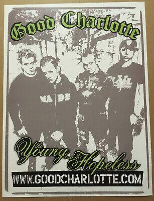 GOOD CHARLOTTE Rare 2002 PROMO POSTER for young CD 18x24 NEVER DISPLAYED USA