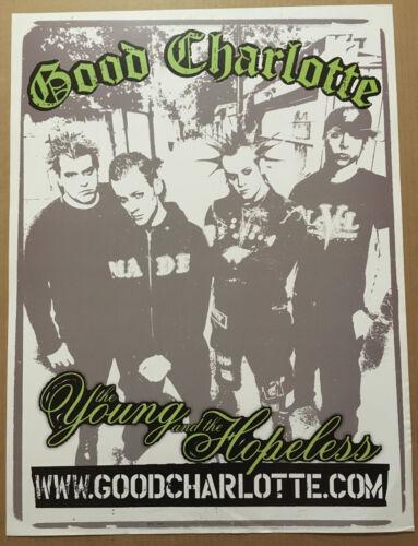 GOOD CHARLOTTE Rare 2002 PROMO POSTER for young CD 18x24 NEVER DISPLAYED USA