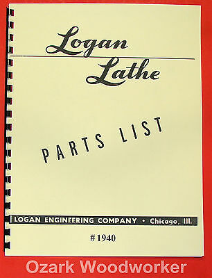 Logan 11 Lathe 1940 Parts Manual 0447