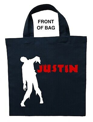 Personalized Halloween Treat Bag (Zombie Trick or Treat Bag, Personalized Zombie Halloween Bag, Zombie Loot)