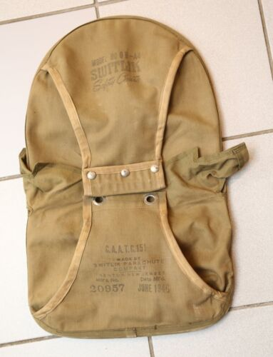 1946 Switlik Safety Chute parachute container - QB-A4 - with original data card