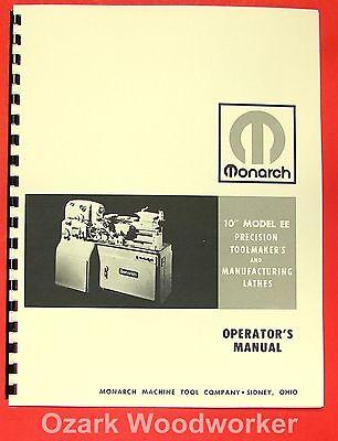 Monarch 10ee Metal Lathe Operators Manual 0468