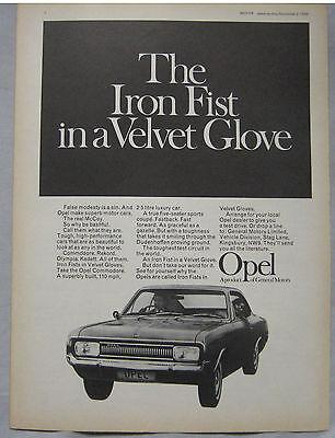 1968 Opel Original advert No.2