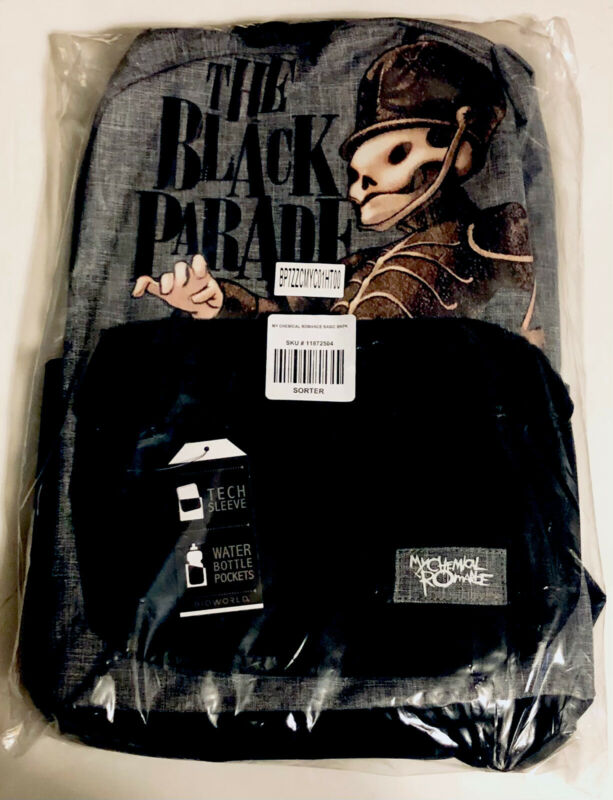 My Chemical Romance Black Parade Art Backpack School Book Bag NEW NWT Hot Topic
