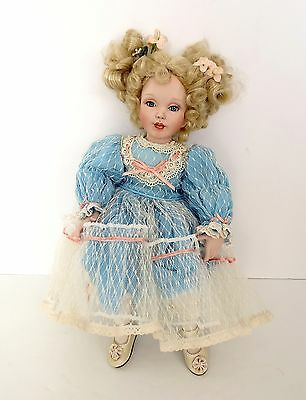 Paradise Galleries Porcelain Sitting Doll Victoria From The Treasury Collection
