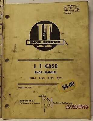 Case 1270 1370 1570 Tractor It Service Shop Manual Usable Manual