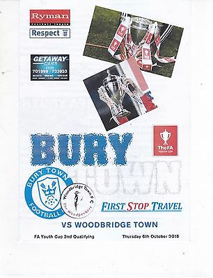 BURY TOWN V WOODBRIDGE TOWN FA YOUTH CUP  6/10/2016