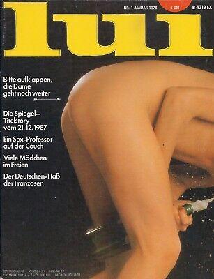 Französisches Erotikmagazin LUI (Januar 1978) Vintage Bettgeschichten Sexy Girls