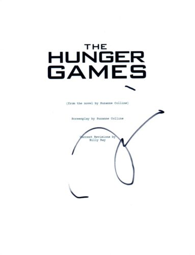 Liam Hemsworth Signed Autographed THE HUNGER GAMES Movie Script COA