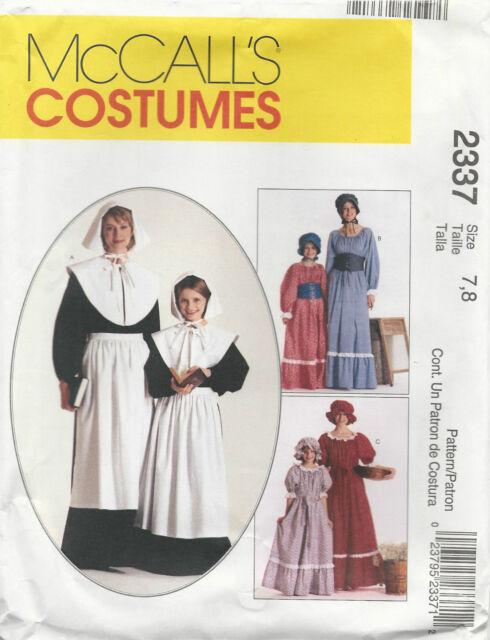 McCalls M2337 Pattern Misses & Girls Costumes Girls(7-8) - Misses(20-22) Uncut