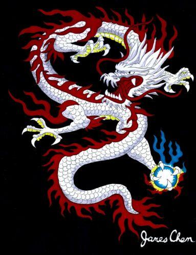 CHINESE DRAGON ORIGINAL HAND DRAWN FINE COLOR ART BY COMIC ARTIST JAMES CHEN