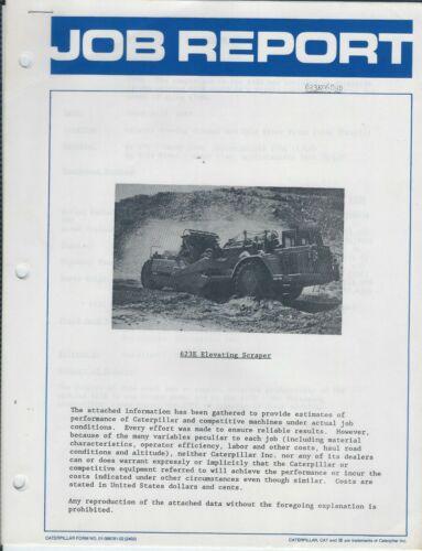 Equipment Brochure - Caterpillar - 633E Scraper Vs 633D Test Report 1989 (E6012)
