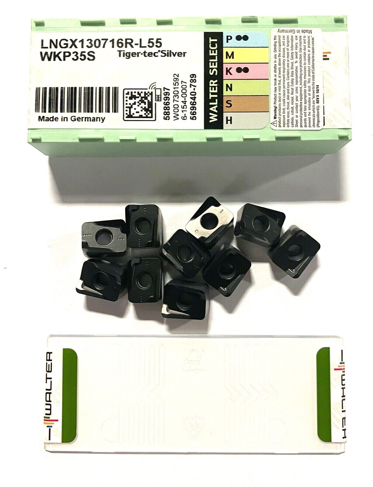 New-Old-Stock Carbide Inserts Walter P29460-0 WXH15 *** Pack of 10 ***