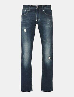 ARMANI EXCHANGE Authentic Medium Wash Rip and Repair Fleece Slim Fit Jean NWT (Armani And Exchange)