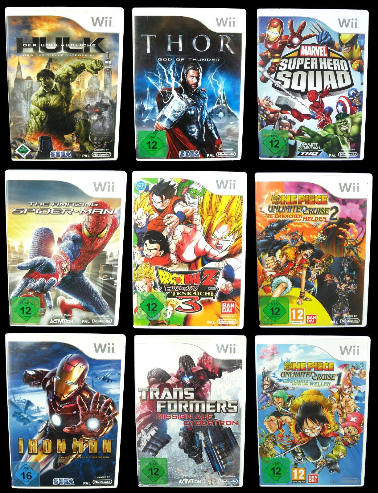 ACTION-Spiele für Nintendo Wii: Harry Potter, One Piece, X-Men, Dragonball