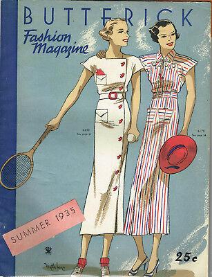 1930s Butterick Summer 1935 Fashion Magazine Pattern Book Catalog E-Book on CD