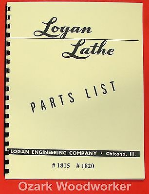 Logan 10 Lathe 1815 1820 Parts Manual 0442