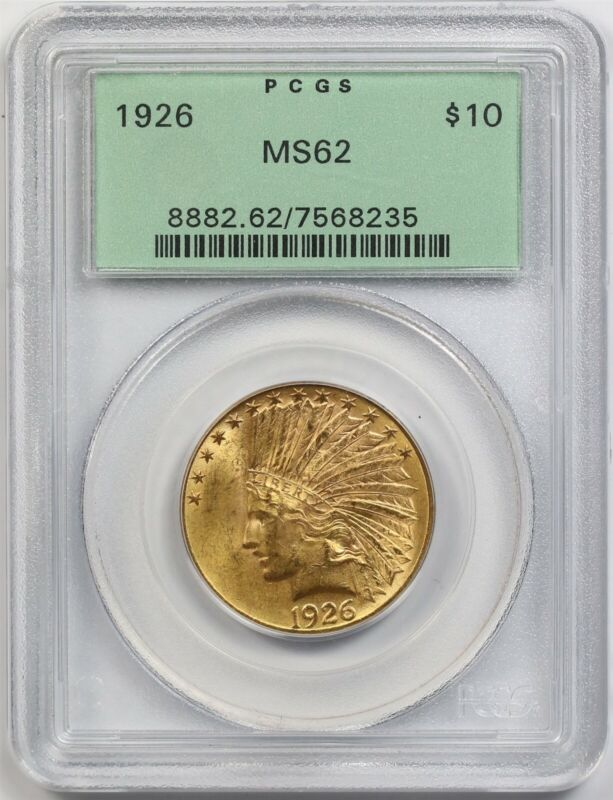 1926 $10 PCGS/OGH MS 62 Indian Head Gold Eagle
