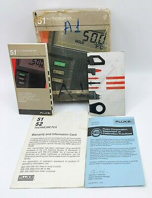 Fluke 51 Kj Thermometer Handheld Digital Tester Meter J-type