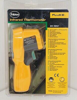 Fluke 64 Max Ir Infrared Thermometer -22f 1112f 201 Optics -30c To 600c New