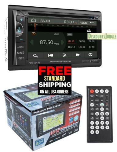 "POWER ACOUSTIK PDN-621HB 6.2"" CD DVD GPS BLUETOOTH USB AUX NAVIGATION 300W RADIO"