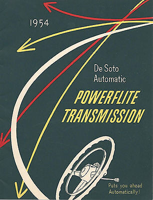 De Soto Automatic POWERFLITE TRANSMISSION 1954 Illustrated Brochure Automobilia