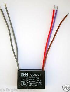 Bm 4 5uf 5uf 6uf 5 Wire Ceiling Fan Capacitor Cbb61