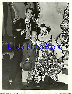 Hollywood Junior Circus Promo Photo Ringmaster, Zero & Boffo the Clown ABC-TV
