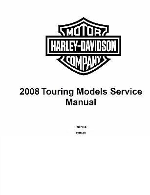 2008 Harley Davidson Touring Models Service Manual   Electrical Diag On Cd