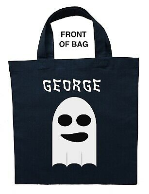 Ghost Trick or Treat Bag - Personalized Ghost Halloween Loot Bag, Ghost - Halloween Treat Bags Personalized