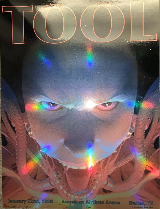 Tool Poster Dallas American 2020 concert tour limited edition holographic