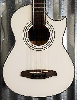 Ortega D-Walker-WH White Short Scale Acoustic Electric Bass & Bag B Stock #1381