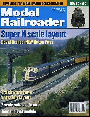 Model Railroader Magazine November 1999 Super N scale layout, used for sale  Paris