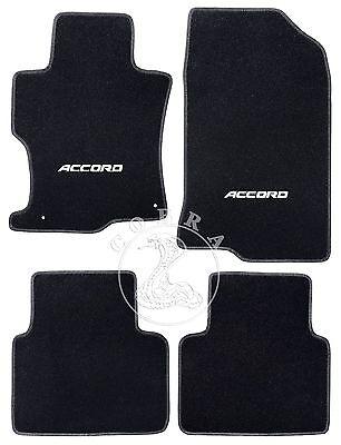 Floor Mats + ACCORD LOGO Fits HONDA ACCORD Sedan 2008 2009 2010 2011 2012