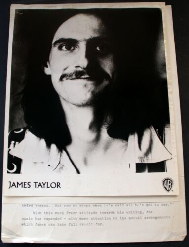 James Taylor Press Kit Warner Bros Records One Man Dog 1972