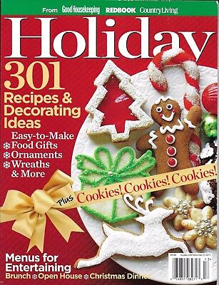 Holiday Magazine Christmas Recipes And Decorating Ideas Cookies Wreaths