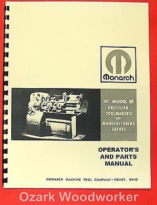 Monarch 10ee Older Metal Lathe Operators Parts Manual 0476