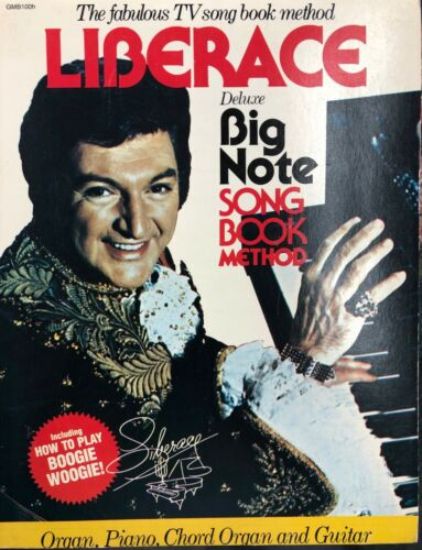 Liberace Deluxe Big Note Song Book Method, RARE EDITION STILL SEALED, W/Calendar