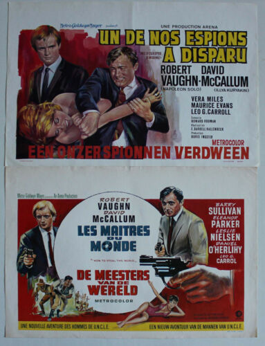 Man From Uncle lot of 2 original Belgium movie posters Robert Vaughn spy