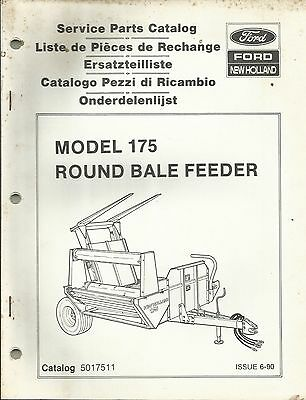 Original New Holland Model 175 Round Bale Feeder Service Parts Catalog 5017511