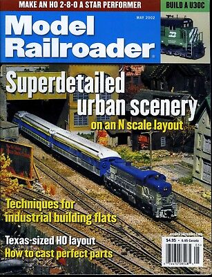Model Railroader Magazine May 2002 Superdetailed urban scenery on N scale layout for sale  Paris