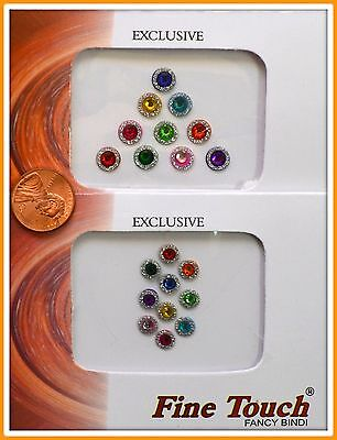 CRYSTAL Velvet Dot Bindi 20 Kumkum Tattoo Stickers Body Art India Jewelry P45