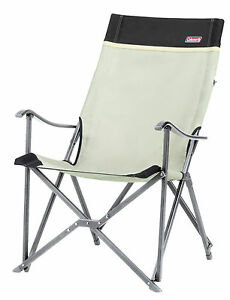 Coleman Ergonomic Sling Folding Camping Chair Khaki