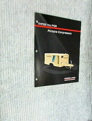 New Vintage 1990 Ingersoll Rand Portable Compressor Vhp300 P245 Brochure Free Sh