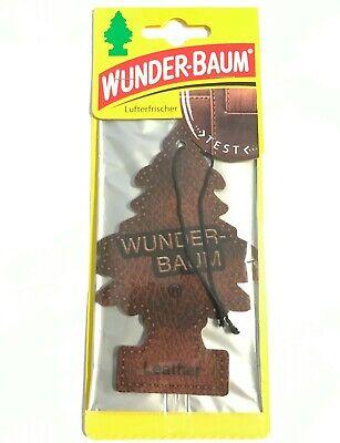 3 x Original WUNDERBAUM® Echt Leder Lufterfrischer Duftbäumchen air freshener