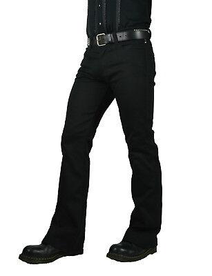 SHRINE CLASSIC BLACK GOTHIC RETRO PUNK STEAMPUNK ROCKER BIKER JEANS PANTS Clothing, Shoes & Accessories