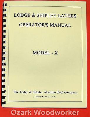 Lodge Shipley Model X 14162025 Lathe Oppart Manual 0440