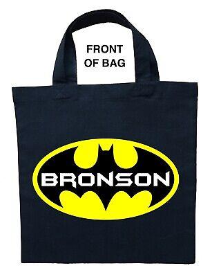 Batman Trick or Treat Bag, Personalized Batman Halloween Bag, Custom Batman Bag