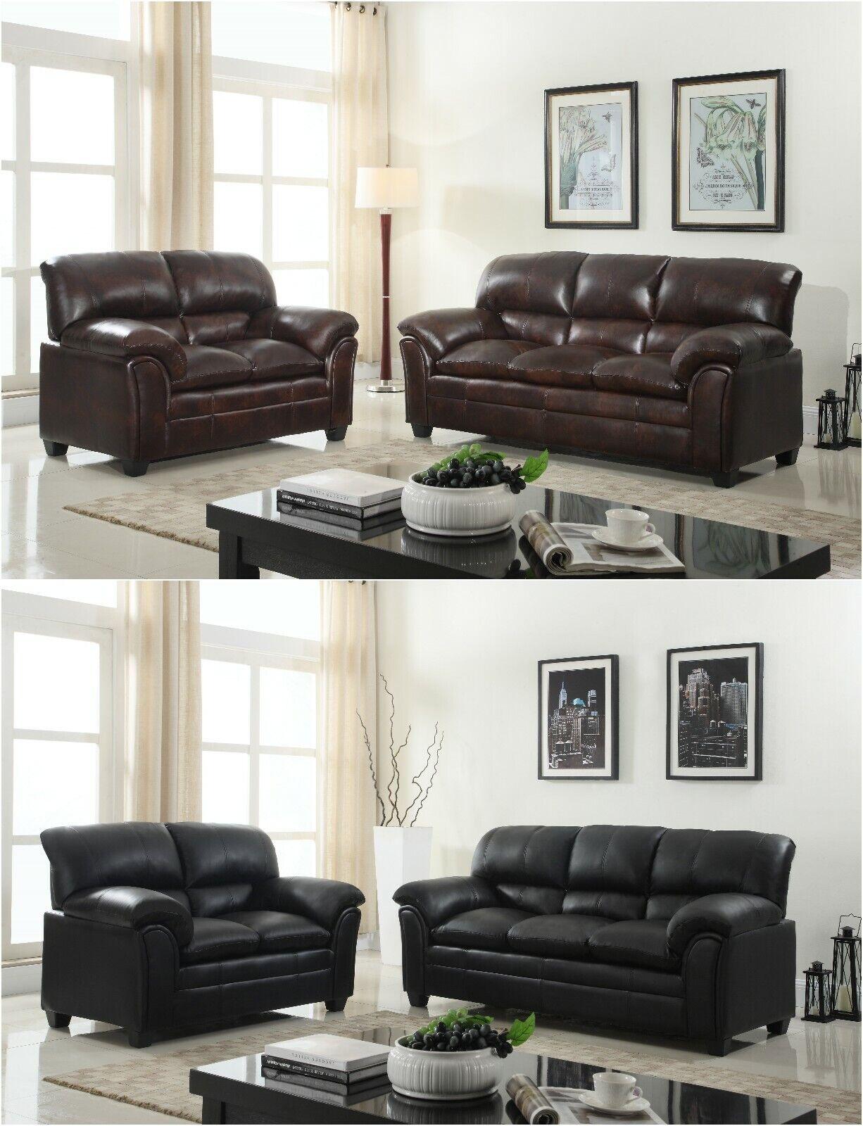 Strange Brandnew Contemporary Pu Leather Sofa Loveseat Living Room Furniture Couch Set Spiritservingveterans Wood Chair Design Ideas Spiritservingveteransorg