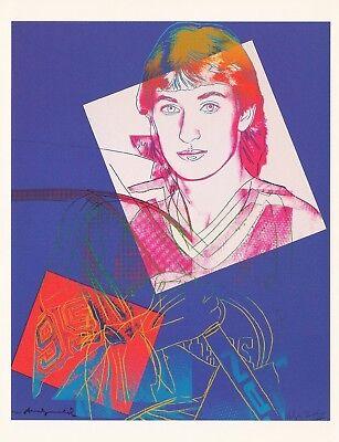 ANDY WARHOL WAYNE GRETZKY HOCKEY NATIONAL GALLERY OF CANADA CARD 2000 PRINT